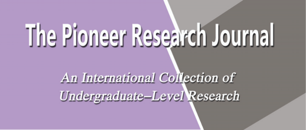 The Pioneer research journal 2019