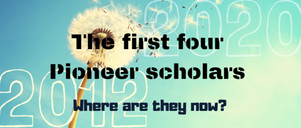 The first four Pioneer Scholars cover page